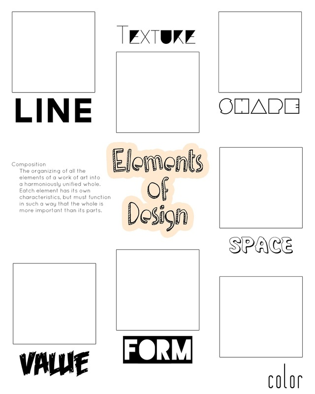 Worksheet Principles Of Design Worksheet elements and principles of design ms yostbhs picture